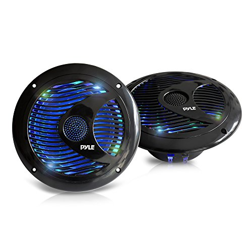 Pyle PLMR6LEB Waterproof Speakers Multi Color