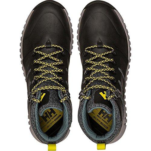 Helly Hansen Vanir Canter Ht, Stivali da Escursionismo Alti Uomo, Nero (Black/Charcoal/Sulphur 990), 45 EU