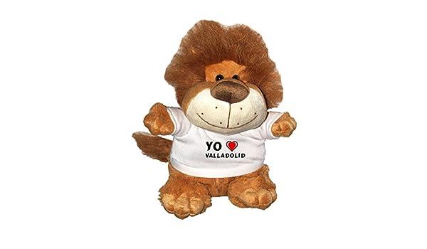 León de peluche (Fetzy) con Amo Valladolid en la camiseta (ciudad / asentamiento): Amazon.es: Juguetes y juegos