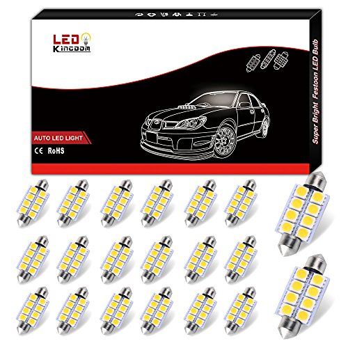 LEDKINGDOMUS LED Interior Map Dome Door Lights Bulbs