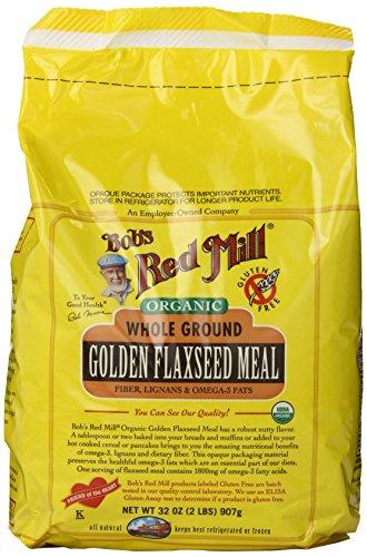 Red Mill organique or lin repas de Bob, 32 onces paquets (Pack de 4)