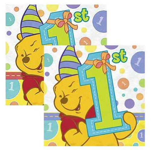 Winnie the Pooh Boy or Girl 1st Birthday Small Napkins ( 16ct ) B0018NL2EG