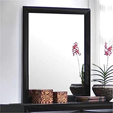 Coaster Home Furnishings 200704 Casual Contemporary Mirror, Black