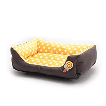 Wuwenw Yellow Pet Supplies Hot Wave Pet Dog Dog Sofá Cama Arena para Gatos Lollipop Perrera 45X40Cm: Amazon.es: Productos para mascotas