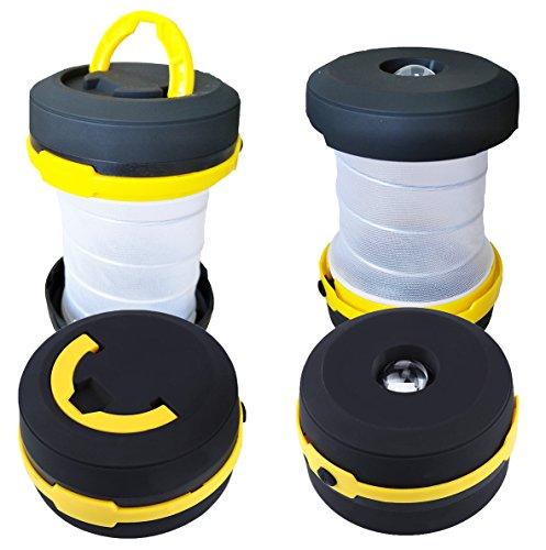 1 Lantern Led Flashlight Watt (OPALRAY Camping Lantern Collapsible Led Lantern flashlight, Emergency Light, Battery Operated Camping Gear lights, 1 Pack Yellow)