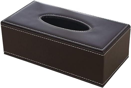 Caja de pañuelos de piel sintética, rectangular, soporte de papel ...