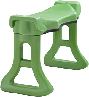 Premium Quality VerteXcellent Garden Kneeler Bench with Large Contoured Sitting Area & Soft Foam Knee Pad   Made in USA by Vertex   Model GB2665-GN