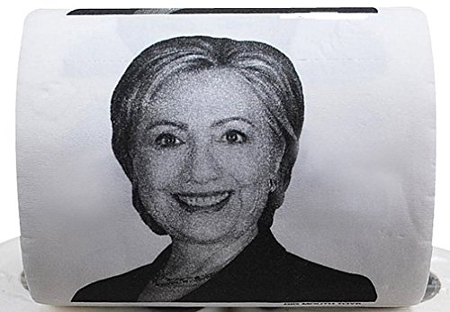 The Gags Hillary Clinton Toilet Paper-JUMBO ROLL-Twice as big as most other Novelty Toilet Paper- Political-Campaign-Presidential Race Gag Gift