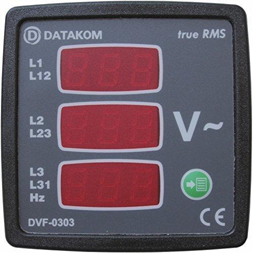 DATAKOM DVF-0303 digital voltmeter and frequency meter (3 Phase) (3 Phase Meter)