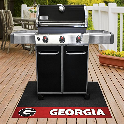 FANMATS NCAA University of Georgia Bulldogs Vinyl Grill Mat ()