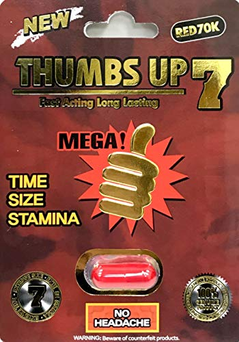 Thumbs Up 7 70K Red 1 Pill Male Enhancing Natural Performance Pill The New Most Effective Natural Amplifier for Performance, Energy, and Endurance