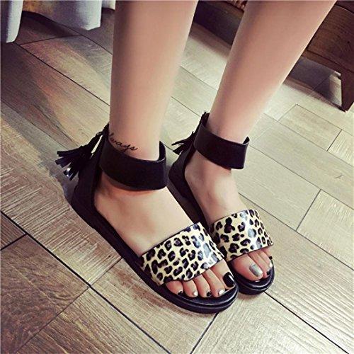 tongs ® Fashion d'été sandales Jaune femmes plat Mesdames Transer confortable TBx7nH8H