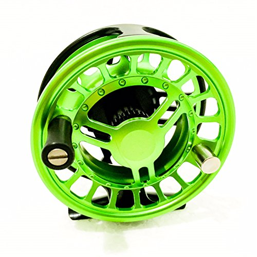 FullMoon Outfitters CE56 Eccentric Series 5/6 Fly Reel From FMO CNC Precision Machined Large Arbor Lightweight Fly Reel + FREE TIPPET TENDERS AND TIPPET (Abel Fly Reels)