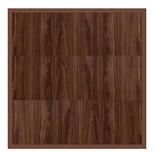 "Swisstrax ¾"" thick Interlocking ""Hardwood"" Floor Tiles w/ Edges & Corners (4' x 4' Pad) - Dance Floors, Office Areas, Event Floors & more! (Medium Maple) by Swisstrax"