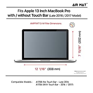 "13 Inch MacBook Pro W / Touch Bar Magnetic Privacy Screen Filter (Apple Model A1708 / A1706), best removable Anti Glare Protector Film for data confidentiality - compare to 3M (MacPro 13"" 2016-2017)"