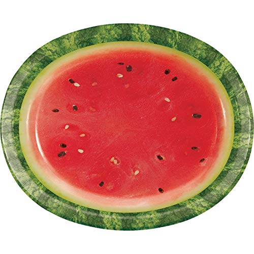 Watermelon Picnic Oval Plates, 24 ct]()