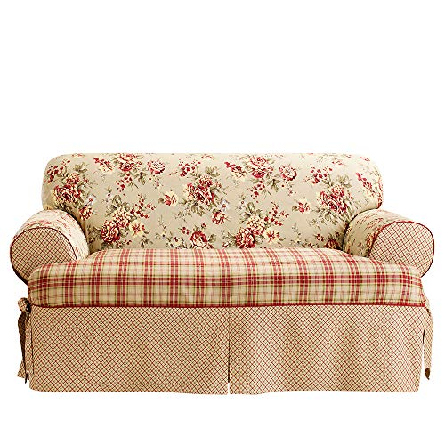SureFit  Lexington Relaxed Fit 1 Piece Sofa Slipcover, Multi (Loveseats Style Country)