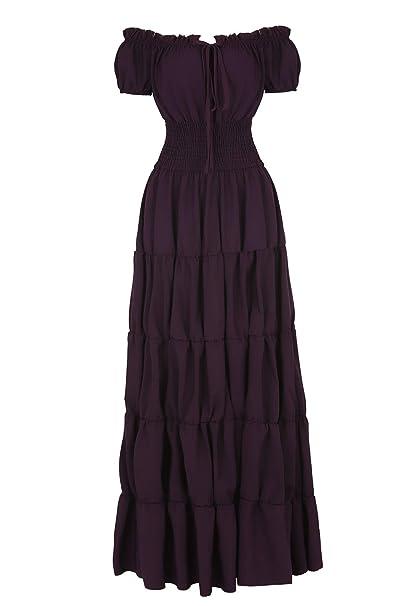 Amazon.com: Haoaugut - Disfraz irlandés medieval para mujer ...