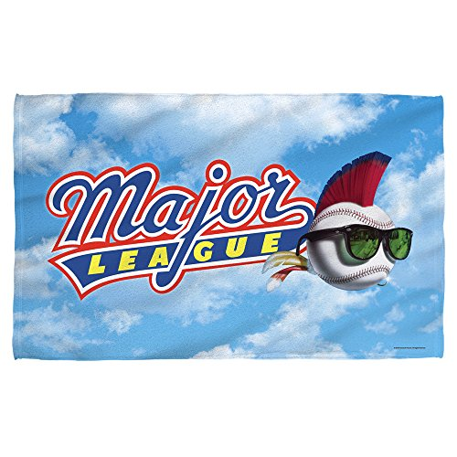 Major League Sports Comedy Movie Baseball League Logo Beach Towel Cleveland Indians Pitcher