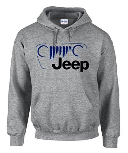 Gris Car shirt Capuche Fun 3365 Sweat Jeep À Logo SB4pxp