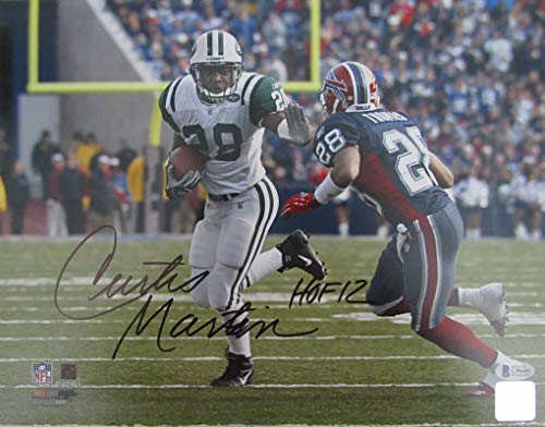 Curtis Martin New York Jets Signed/Autographed 11x14 Photo Beckett - New Curtis York Martin Jets