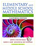 Elementary and Middle School Mathematics, Van de Walle, John A. and Karp, Karen S., 0136103685