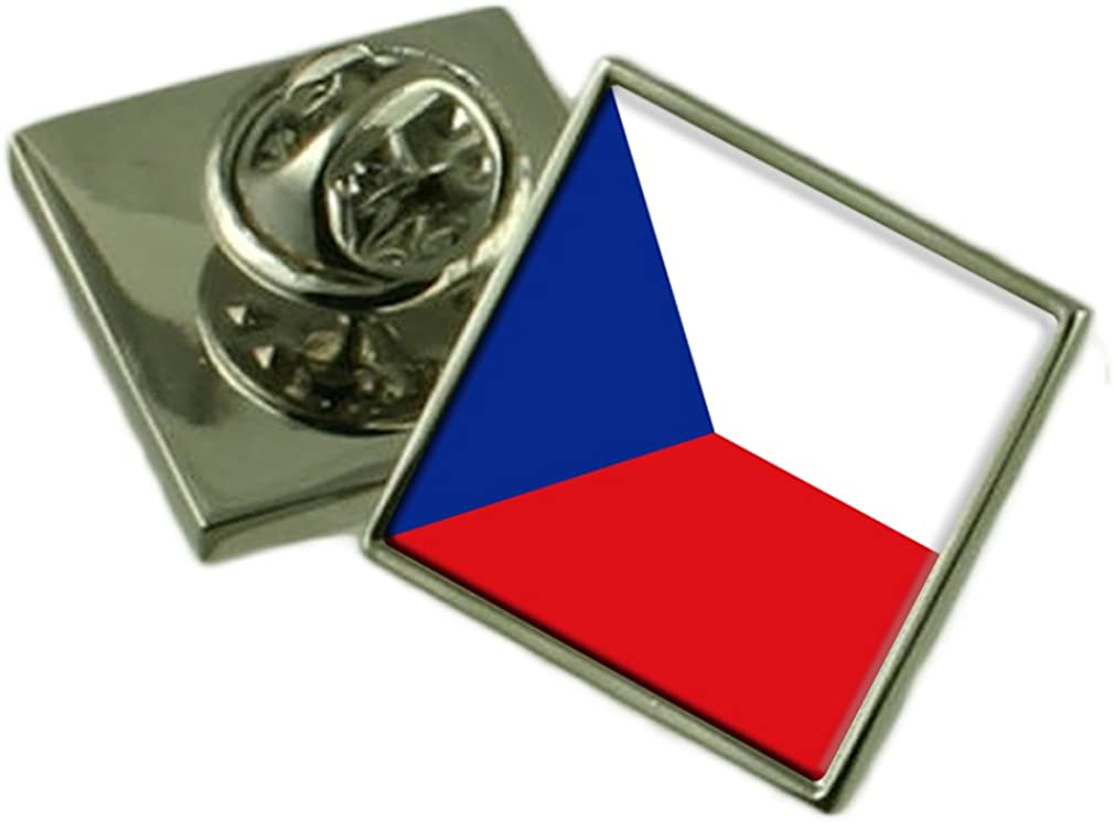 The Czech Republic Lapel Pin Badge Engraved Personalised Box