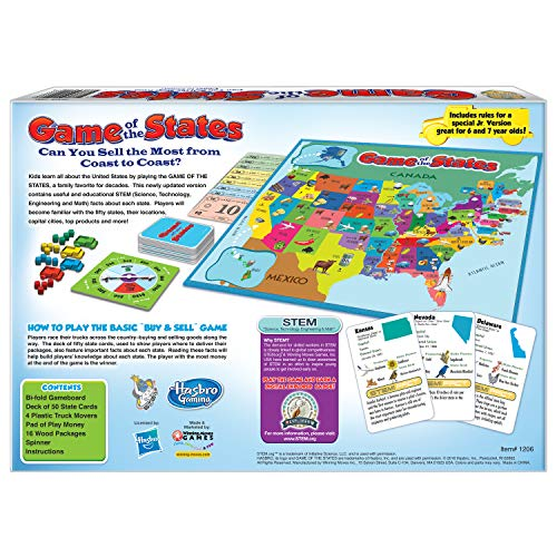 513aGyk2lqL - Winning Moves Games Game of The States, Can You Sell The Most from Coast to Coast? Game Board Game