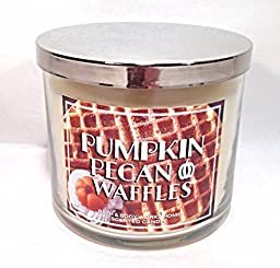 Bath & Body Works Pumpkin Pecan Waffles 3 Wick Scented Candle 14.5 oz./411 g.