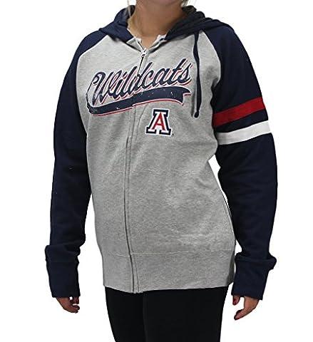 Creative Apparel Women' s Arizona ASU Wildcats Grey Zip Hoodie Shirt - Cat Womens Zip Hoodie