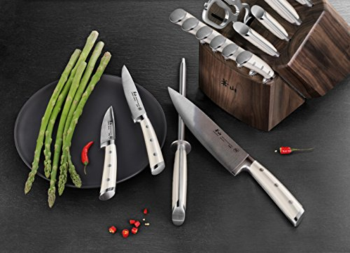 Cangshan S1 Series 1022599 German Steel Forged 17-Piece Knife Block Set , Walnut by Cangshan (Image #4)'