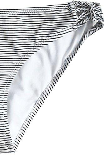 CUPSHE Women's Love More Stripe Bikini Set Beach Swimwear Bathing Suit (M) by CUPSHE (Image #3)