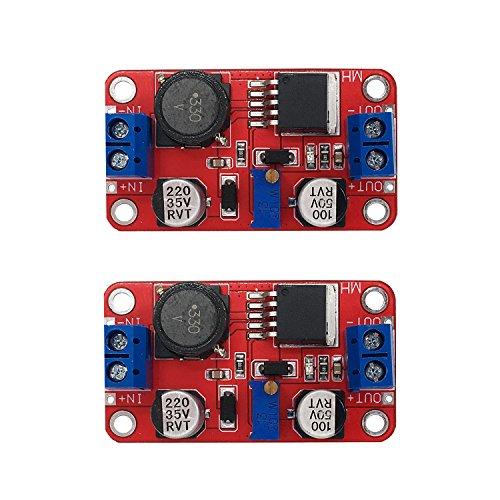 ([2-PACK] Boost Converter Module Adjustable Voltage Regulator Step-up Board)
