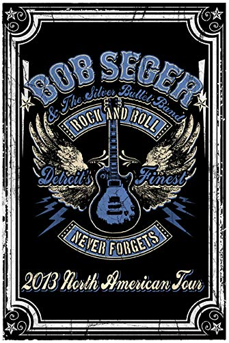 Bob Seger Concert Poster Iron On Transfer for T-Shirts & Other Light Color Fabrics #1 Divine Bovinity (Rock Band Iron On Transfers For T Shirts)
