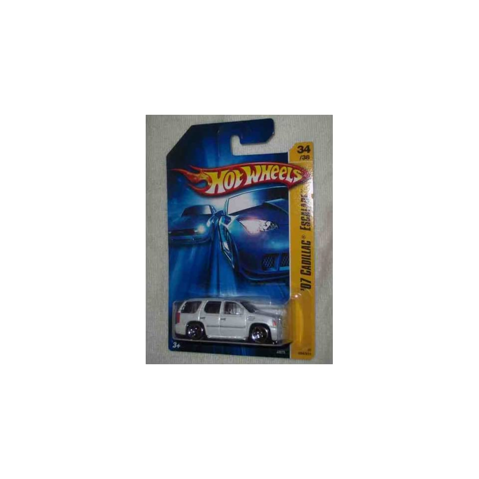 2006 First Editions  #34 2007 Cadillac Escalade White 5 Hole Wheels With Side Mirrors #2006 34 Collectible Collector Car Mattel Hot Wheels