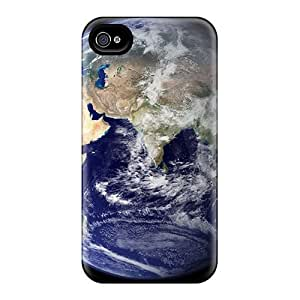 Protection Case Cover For Ipod Touch 4 (outer Space Earth)
