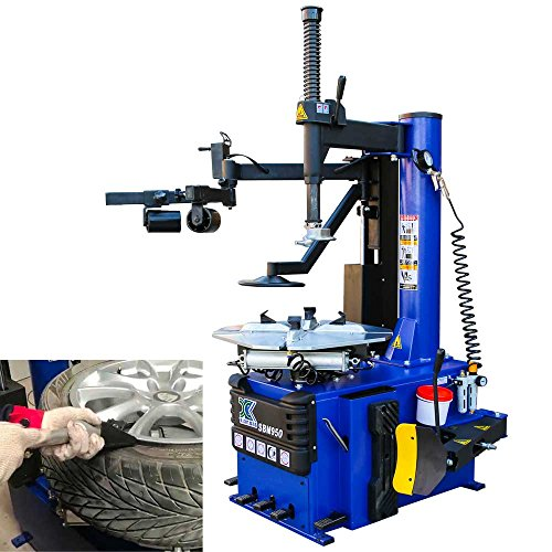 - XK 1.5 HP Tire Changer Wheel Changers Single Machine Rim Clamp 960 w/Auxiliary Arm and Air Bead Blaster Function, 12 Month Warranty 110V