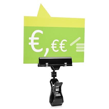 10 pieza Soporte para cartel (para la exhibición de precios al manillar de bicicleta/moto/cortacésped (tubos hasta 30 mm de diámetro)