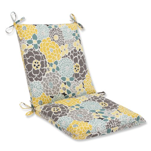 Pillow Perfect Outdoor Full Bloom Squared Corners Chair (Chair Full Cushion)