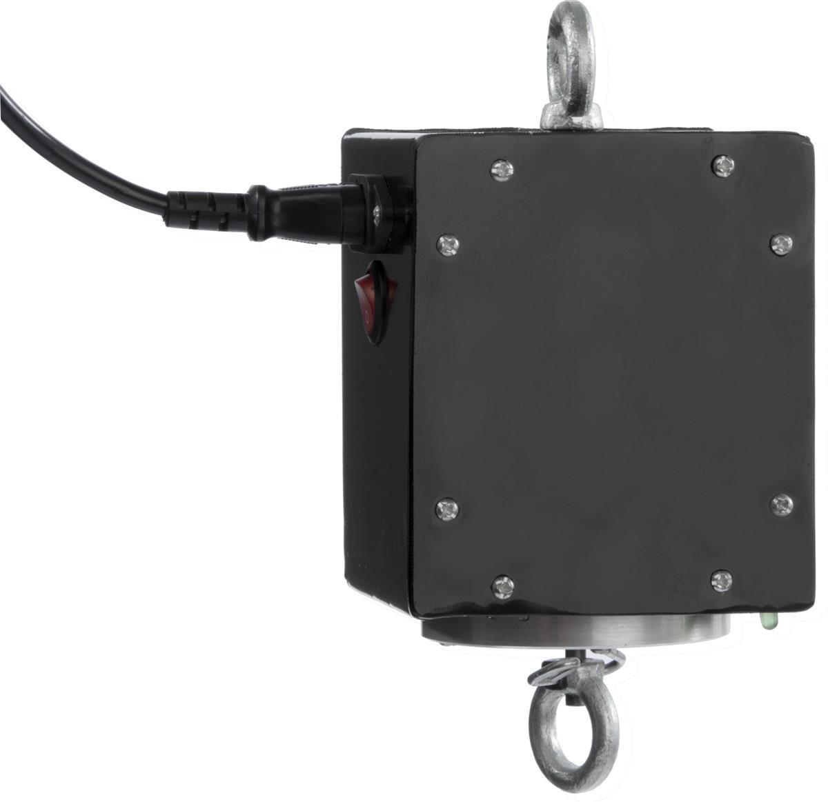 Displays2go Hanging Banner Spinning Motor, Suspends From Ceiling, 2.5 RPM, 15W, 198LB Max Load (Steel/Aluminum) (HNGBNRROT)