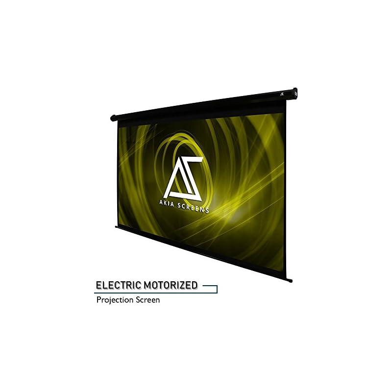 "Akia Screens 110"" Motorized Electric Pro"
