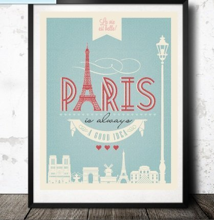 Paris Is Always A Good Idea Quote Vintage Shabby Chic Style Wall Art