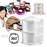 Rotating Make up Organizer Cosmetic Display Brush Lipstick Storage Stand