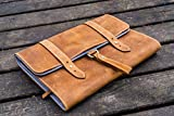 Leather Toiletry Bag or Dopp Kit , Travel Bag - Crazy Horse Brown