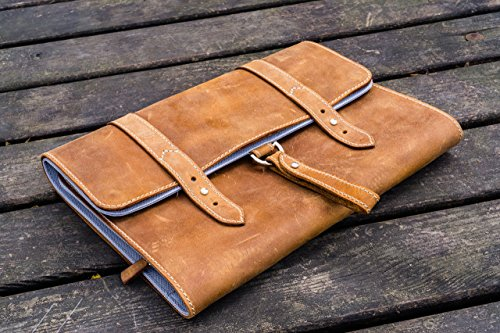 Leather Toiletry Bag or Dopp Kit , Travel Bag - Crazy Horse Brown by Galen Leather