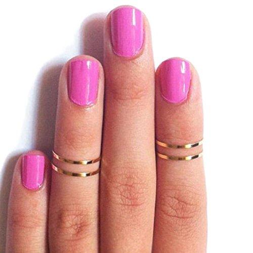 hugestore Mujer Mujeres Joint Knuckle de–Clavo Anillo de Midi de anillos anillo Joint de tobillo schellt Midi Anillos