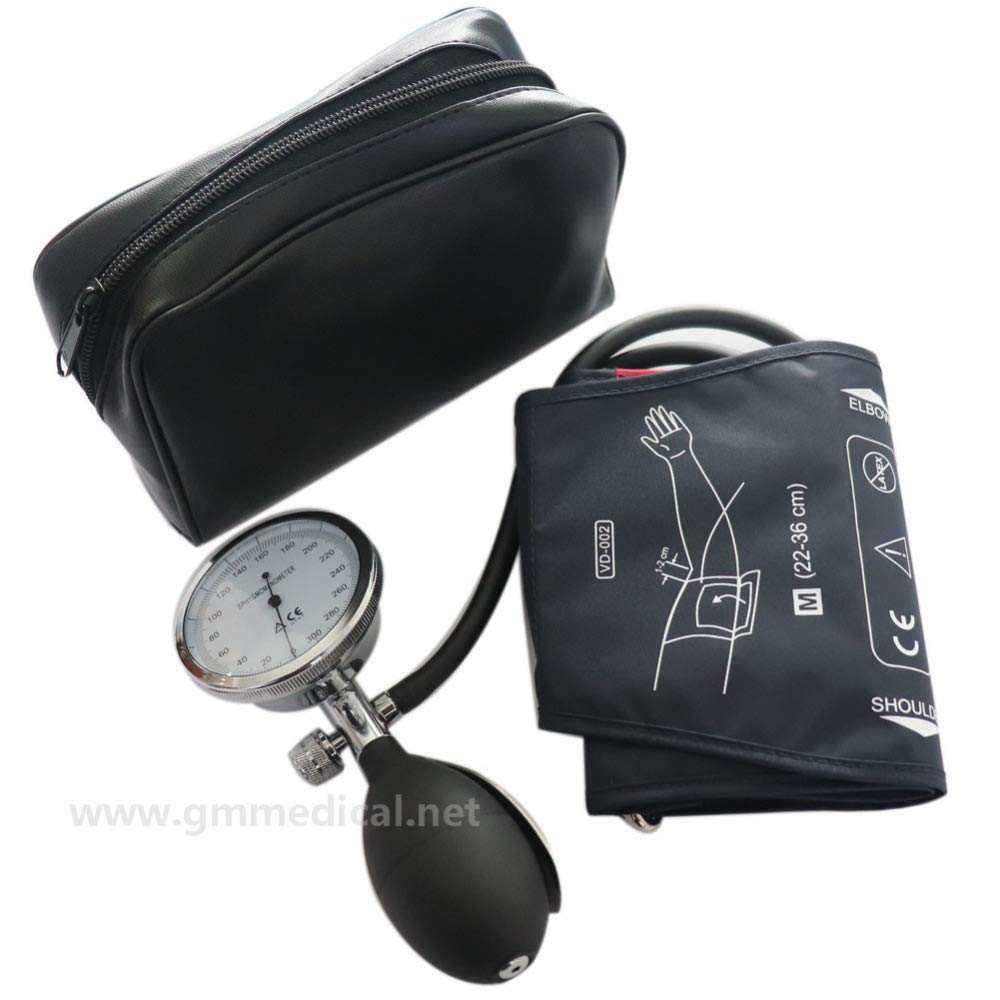 Manual Blood Pressure Cuff, Single Tube Cuff with Pressure Gauge and Inflation Bulb (Large Adult)