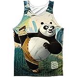 Kung Fu Panda Mens Training Mens Tank White