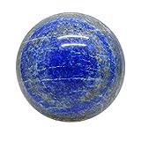 SHIVANSH CREATIONS Healing Crystals Naturals Gemstone Hand Carved Aura Balancing Metaphysical Blue Colour Lapis Lazuli Sphere Ball 50-60 MM