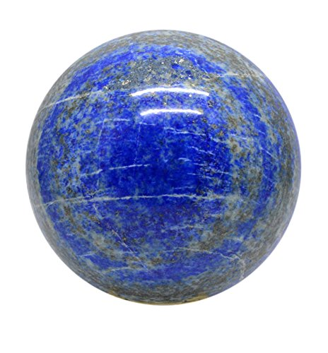 SHIVANSH CREATIONS Healing Crystals Naturals Gemstone Hand Carved Aura Balancing Metaphysical Blue Colour Lapis Lazuli Sphere Ball 55-60 MM